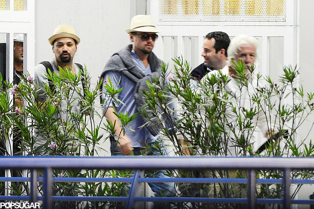 Leonardo DiCaprio arrived in Venice, Italy, on Tuesday.