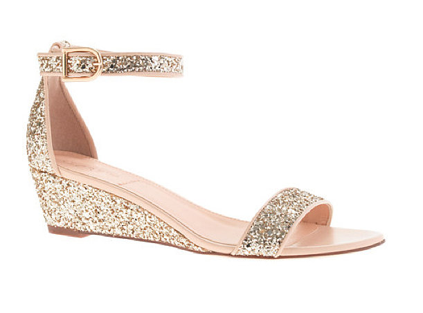 J.Crew Lillian Glitter Wedge