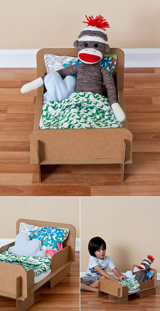how to make a tiny paper bed