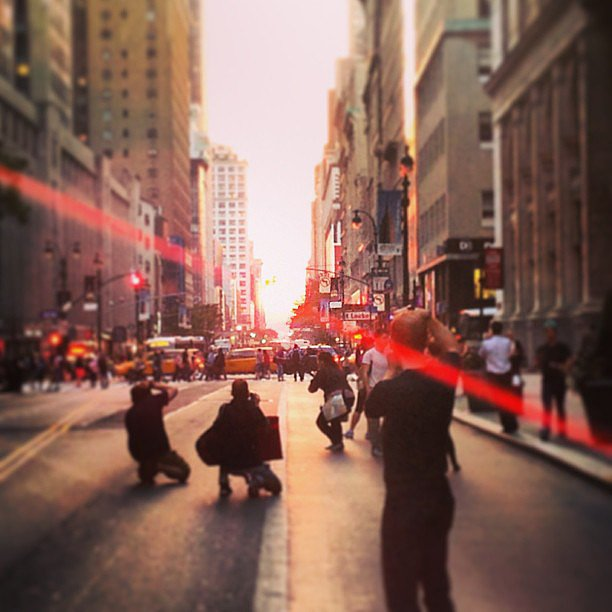 The spectacle of people watching during Manhattanhenge is a sight in itself, as seen in zkzain's photo.