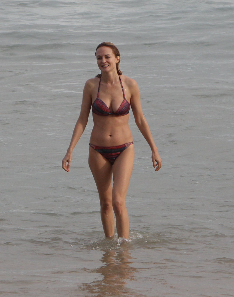 Heather Graham broke out her bikini at the beach in Rio in May 2013.