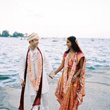 Hindu: Taking Steps as Friends In Hindu ceremonies in Southern India, the happy couple takes seven steps together to signify their friendship, which is considered the cornerstone of the marriage. Photo by Trent Bailey via Style Me Pretty