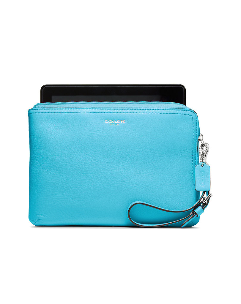 Haphazardly throwing tech devices in your bag is an open invite for scratches and nicks. Protect your iPad Mini in Coach's supple leather zip-up ($98).