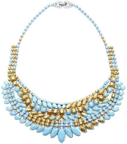 Tom Binns Gilded Pleasure Turquoise Painted Necklace