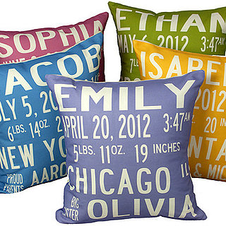 Birth Announcement Pillows, Art, and More