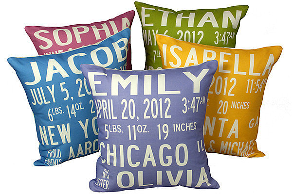 Nameberry Birth Announcement Pillow