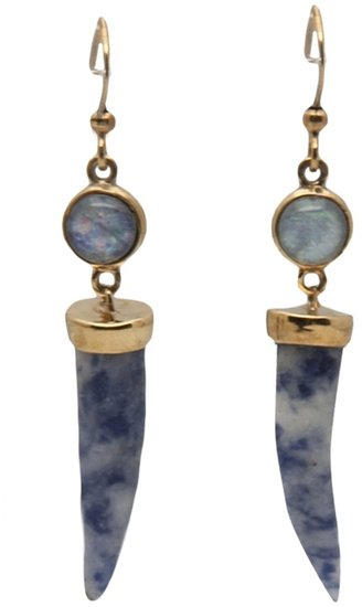 Kelly Wearstler Petite horn and cabochon earring