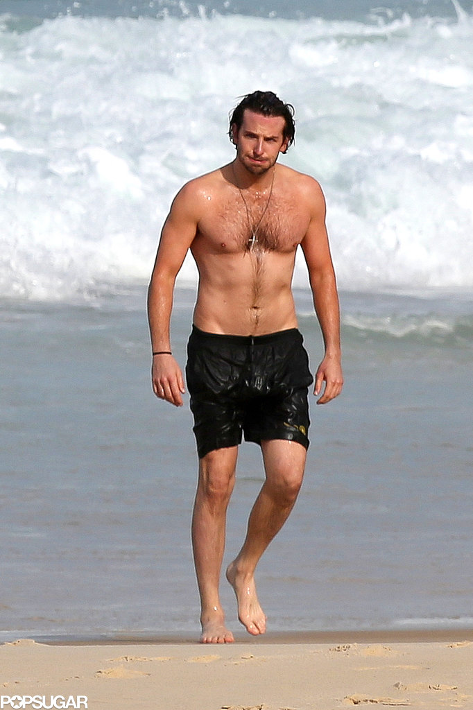 Bradley Cooper took a dip in the ocean.