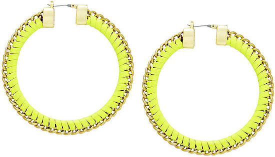 These high-impact BCBG Max Azria chain hoops ($48) are sure to get you noticed, even if the rest of your look is as simple as jeans and a t-shirt.