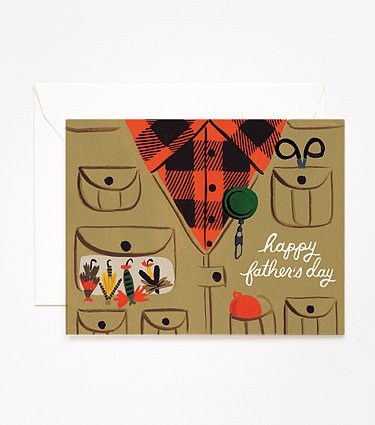 A fly-fishing father will love this sweet card ($5) that pays homage to his favorite hobby.