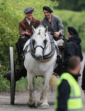 Matt Damon hopped on a horse on Thursday in Buckinghamshire, England, for The Monuments Men.