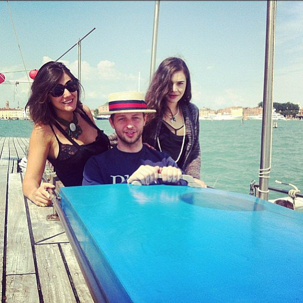 Margherita Missoni took a boat ride in Venice with her sister, Teresa, and Derek Blasberg. Source: Instagram user mmmargherita