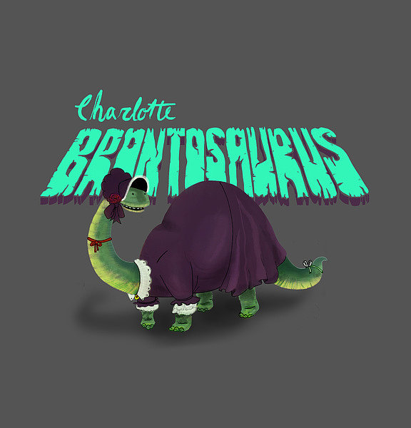 "Charlotte Brontosaurus  The concept: ""Hampered by an avian respiratory system, a reptilian resting metabolism, and four left feet, Charlotte Brontosaurus wasn't too fond of physical activity, and instead passed the time writing. Her indoor dino ways led to the creation of the most critically acclaimed book of the Toarcian period, Jane Eyre. Originally publishing the novel under the pseudonym Currer Belodon to avoid sauropod discrimination, Charlotte eventually revealed herself and spent the rest of her days sipping decanted swamp water among high-society megareptiles."" The Real Deal: English author Charlotte Brontë is best known for writing Jane Eyre in 1847, but did you know she first wrote it under the pen name Currer Bell?"