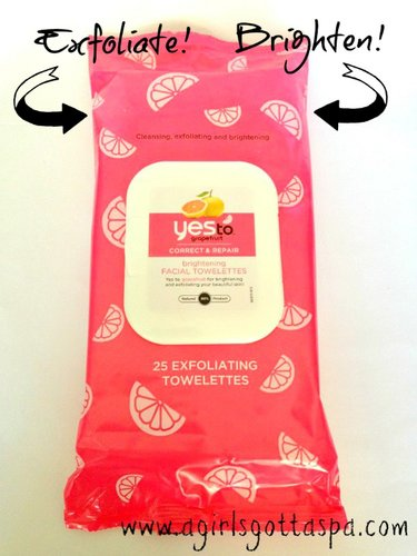 Yes to Grapefruit Facial Towelettes Review