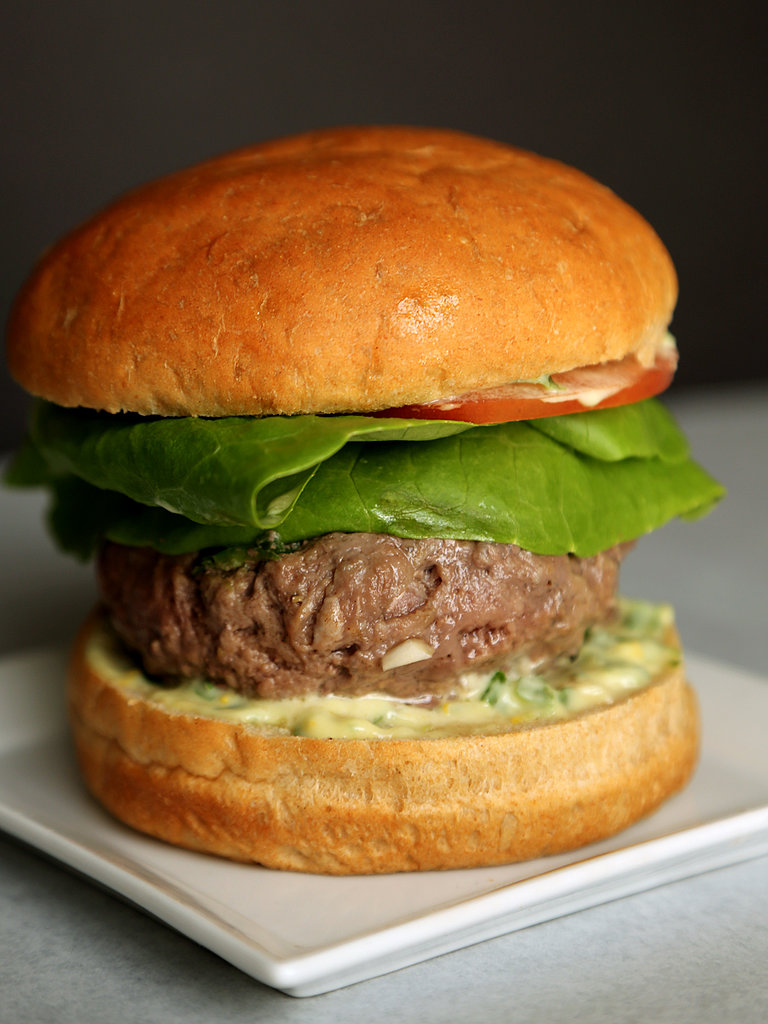 Spicy Brie-Stuffed Burgers