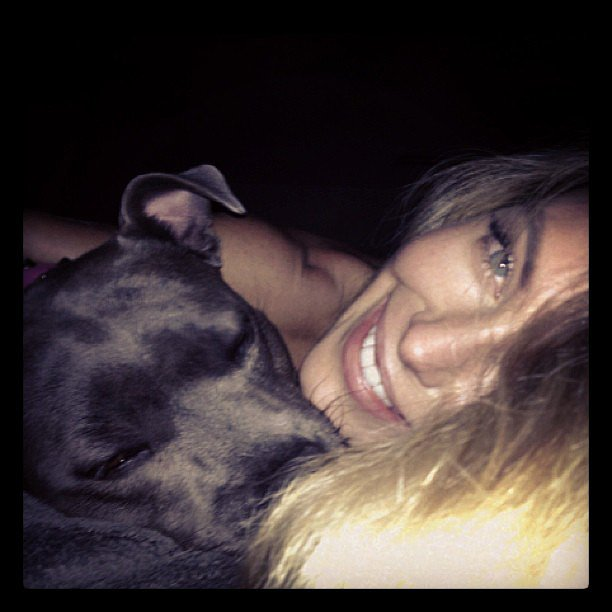 Jennifer Hawkins snuggled up to her gorgeous dog for a sweet selfie. Source: Instagram user jenhawkins_