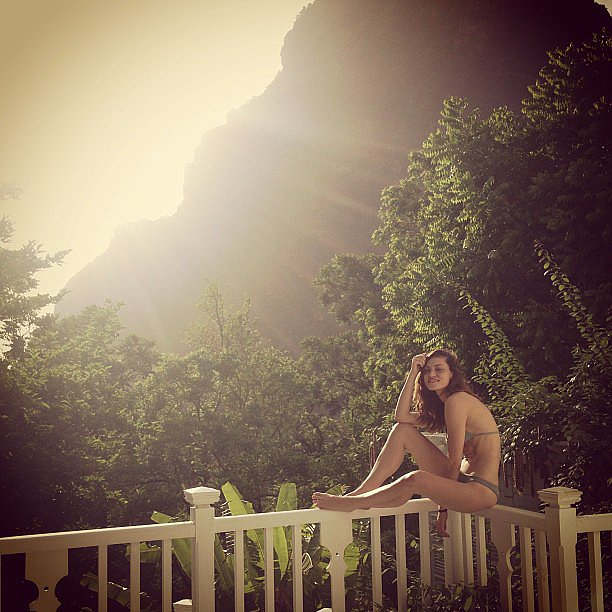 Phoebe Tonkin stripped down to a bikini for a getaway. Source: Instagram user phoebejtonkin