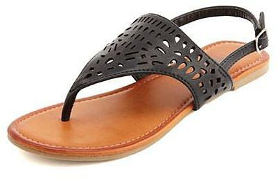 Laser-Cut Slingback Flat Sandal
