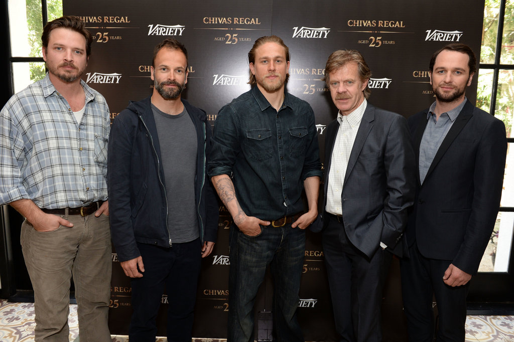Aden Young, William H. Macy, Matthew Rhys, Jonny Lee Miller, and Charlie Hunnam met up at the event.