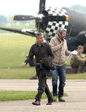 Matt Damon Reports For Duty Alongside Director George Clooney