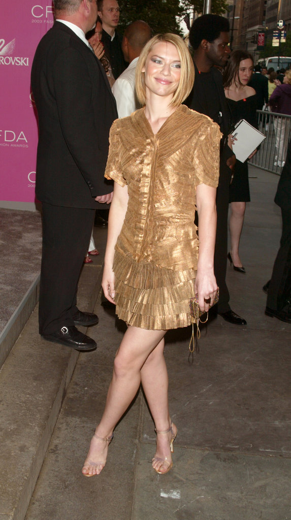 Long before Homeland was even a blip on her radar, Claire Danes attended the 2003 awards in a brassy gold pick.