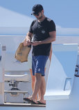 Chace Crawford spent time on a boat during a family vacation in Mexico over the Memorial Day weekend in May.