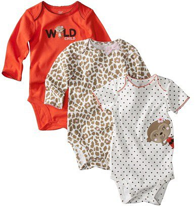 JUST ONE YOU TM Made by Carters ® Infant Girls 3 Pack Assorted Bodysuit Set - Orange
