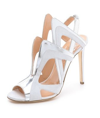 For a more futuristic-inspired sensibility (and if you're wearing something, perhaps, shorter), try these Alejandro Ingelmo slingback sandals ($777, originally $1,295).