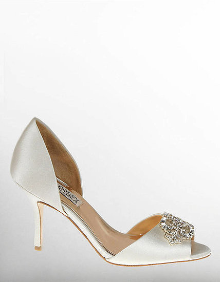 These Badgley Mischka jeweled peep-toe pumps ($150, originally $215) are made for the bride who wants to look traditional without sacrificing comfort — or pizzazz.