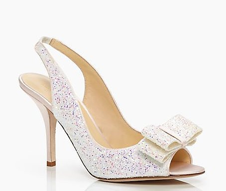 Looking to add a bit of whimsy to the mix? Then score these Kate Spade slingback bow pumps ($328). They're perfectly dainty, plus the glitter gives them that special flair worthy of dressing your feet on your big day.