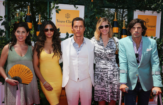 Matthew McConaughey and Camila Alves posed with Nacho Figueras and his wife, Delfina Blaquier.