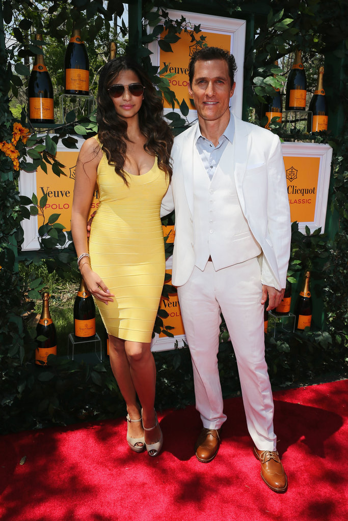 Matthew McConaughey and Camila Alves walked the red carpet at the Veuve Clicquot Polo Classic in New Jersey back in June 2013.