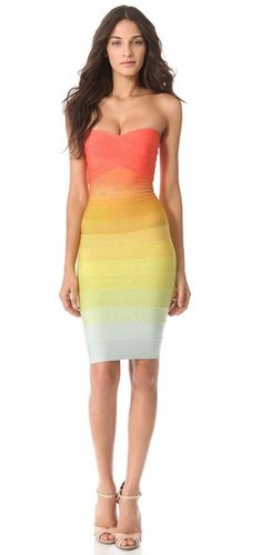 Herve leger Izzie Strapless Dress