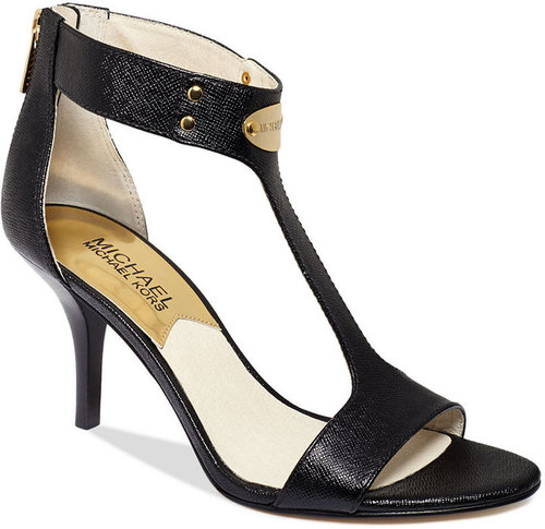 MICHAEL Michael Kors Shoes, MK Plate Mid Heel Sandals