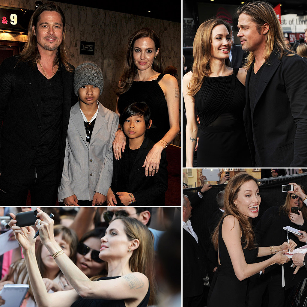 Angelina Jolie Returns to the Red Carpet With Brad, Maddox and Pax