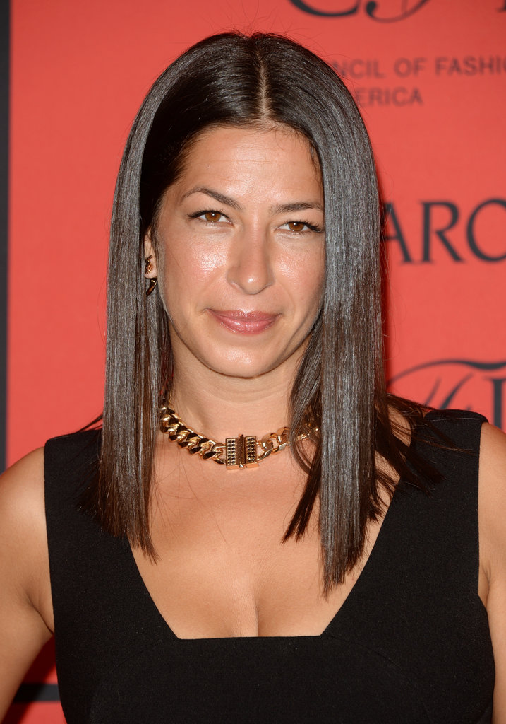 Designer Rebecca Minkoff opted for straight, shiny strands and a bronzed-glow beauty look for her turn on the CFDA Fashion Awards red carpet.