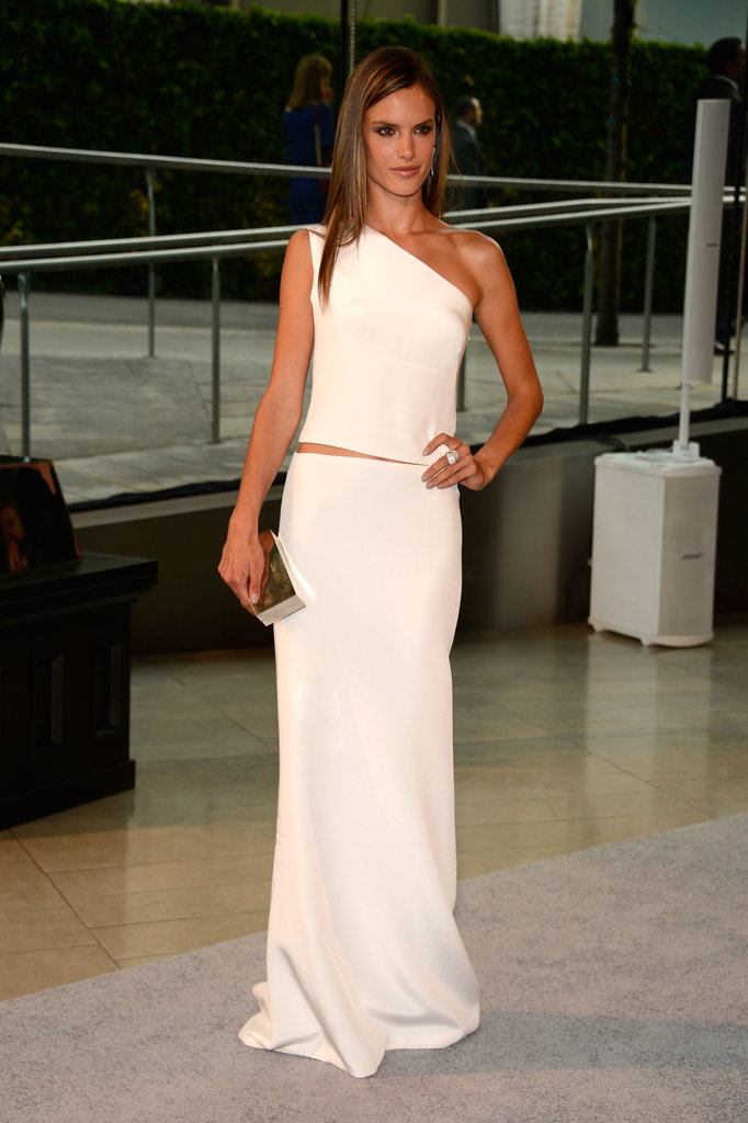 Alessandra Ambrosio, in KaufmanFranco, at the 2013 CFDA Awards.