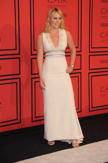 Lindsey Vonn wore white to the CFDA Fashion Awards.
