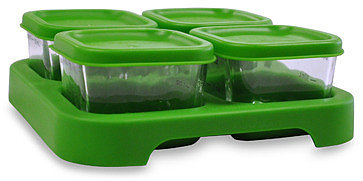 green sprouts™ by i play.® Glass Freezer Cubes - Set of 4