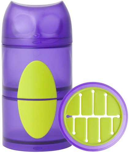 Boon OWL Snack Container - Purple/Green - 11 oz