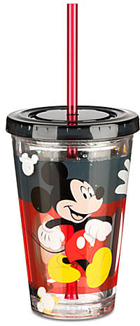 Mickey Mouse Tumbler with Straw -- Small