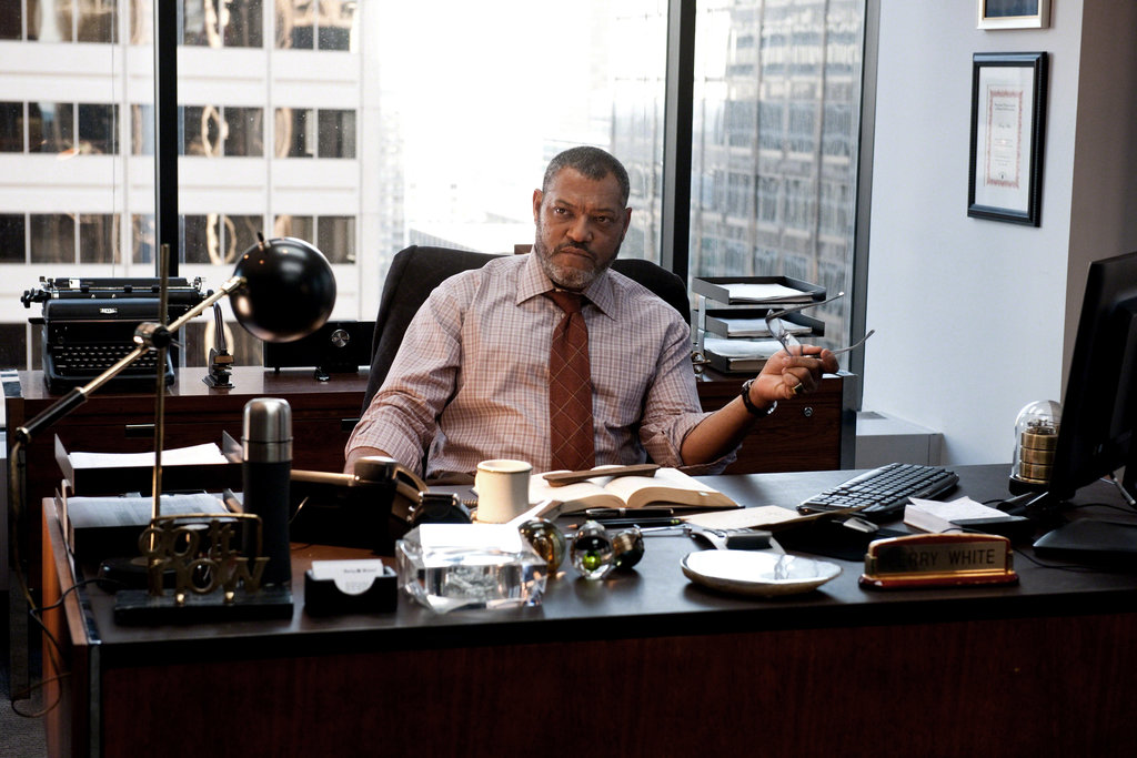 Laurence Fishburne in Man of Steel.