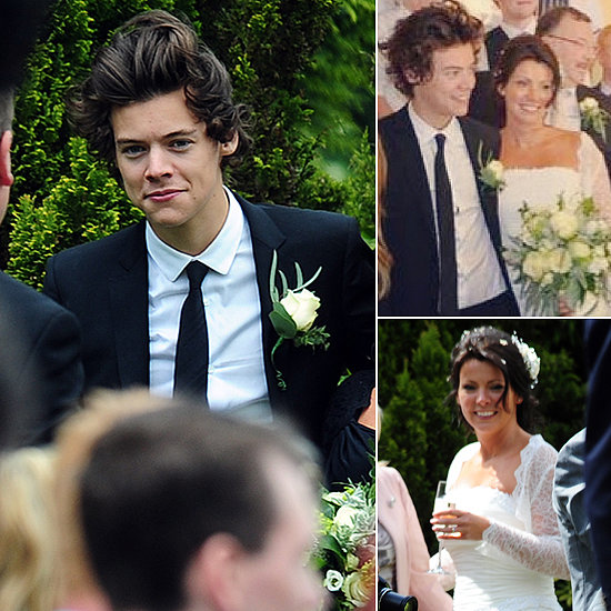 Harry Styles Celebrates His Mom's Wedding as Best Man
