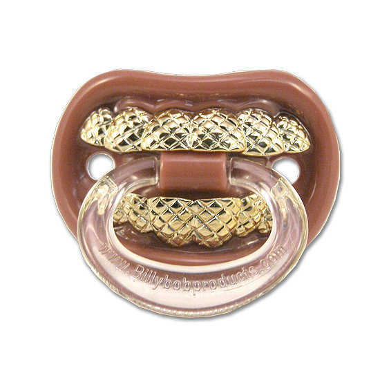 Lose the lullabies and get a good laugh with this grill pacifier ($7).