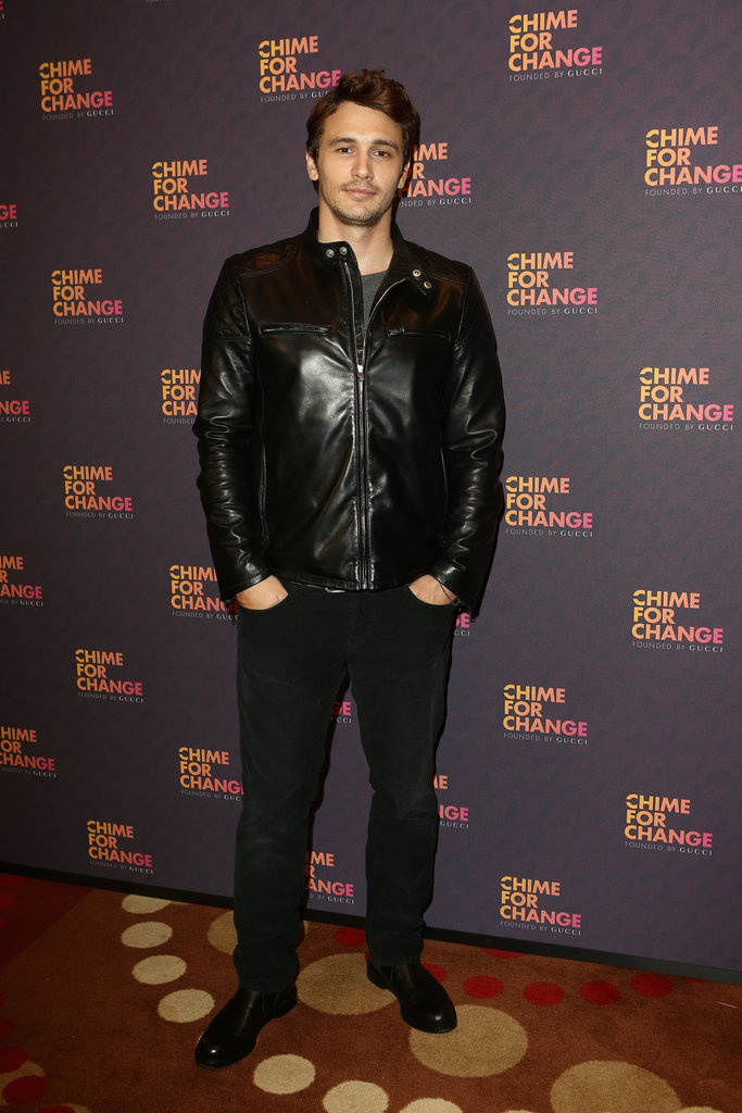 James Franco, in Gucci, at the Chime For Change: The Sound of Change Live concert, presented by Gucci, in London.