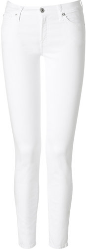 Seven for all Mankind White Skinny Jeans