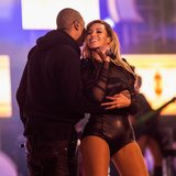 Beyonce and Jay-Z Kiss at Chime For Change Concert