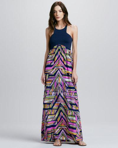 Alice & Trixie Nia Geometric-Print Maxi Dress