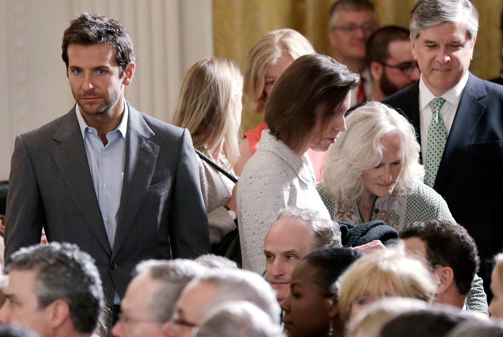 Bradley Cooper mingled with the other White House guests.