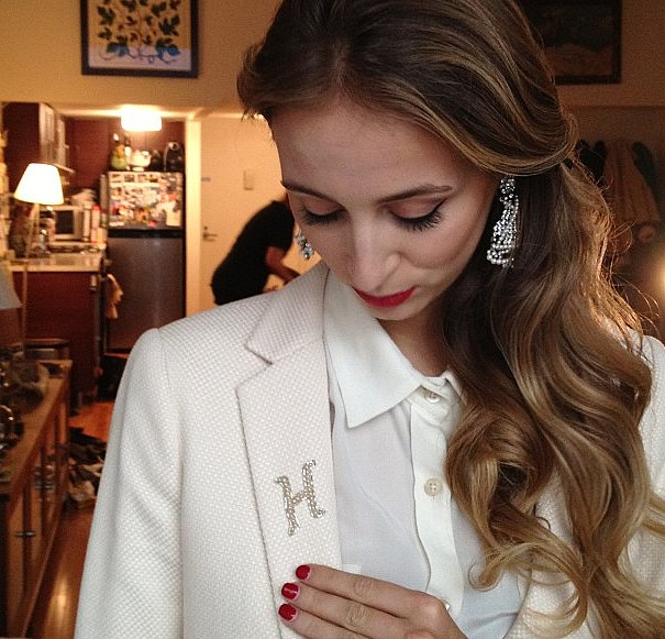 Harley Viera-Newton showed off her embellished monogrammed suit.  Source: Instagram user StevenAlan